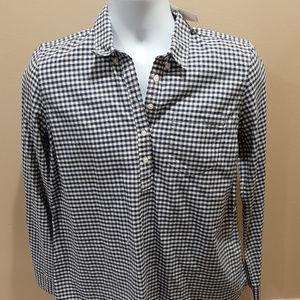 Gap Maternity Shirt Flannel Plaid Checkered Shirt